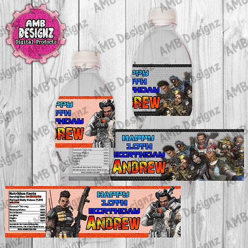 Apex Legends Water Bottle Wrap - Apex Legends Party Supplies