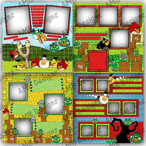 Angry Birds Digital Scrapbooking Premade Album/Pages Set 1
