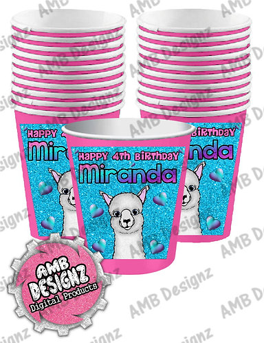 Llama Party Cups - Llama Party Supplies