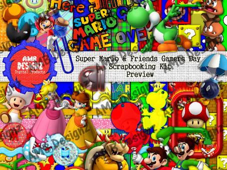 Super Mario Gamers Day Scrapbooking Kit
