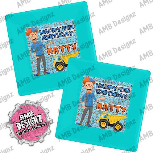 Blippi Party Plates - Blippi Party Supplies