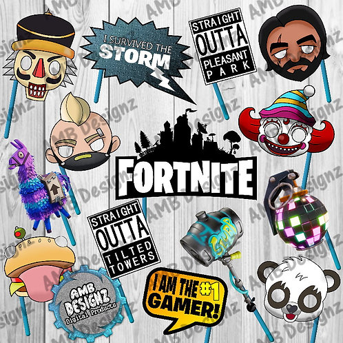 Fortnite Photo Booth Props Party Decorations Party Supplies