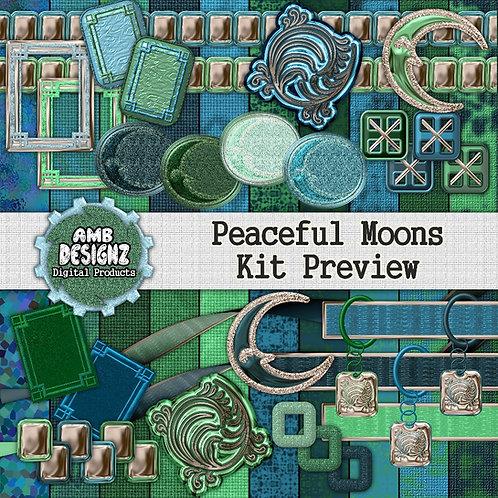 Peaceful Moons Digital Scrapbooking Kit