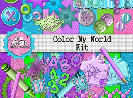 Color My World Digital Scrapbooking Kit