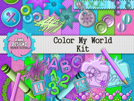 Color My World Digital Scrapbooking Kit