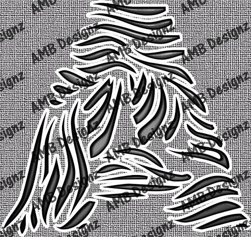 Zebra Scrapbook letter art