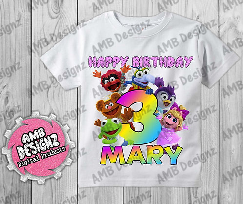 Muppet Babies T-Shirt Birthday Image - Muppet Babies Party Supplies