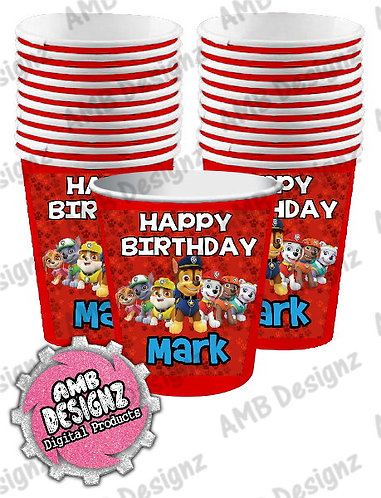 Paw Patrol Party Cups Party Supplies