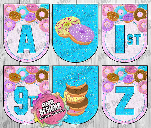 Donut Shop Party Banner Party Supplies