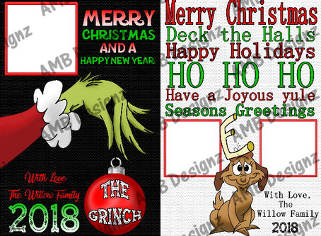 The Grinch Christmas Greeting Cards