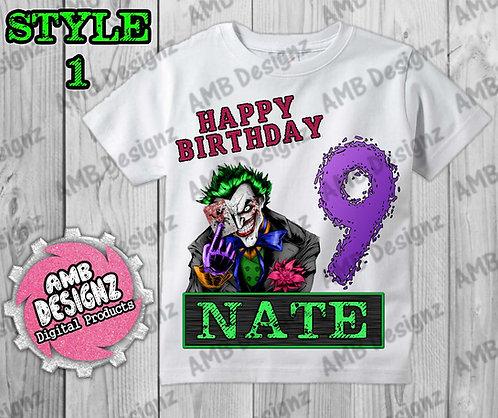 Joker T-Shirt Birthday Image - Joker Party Supplies