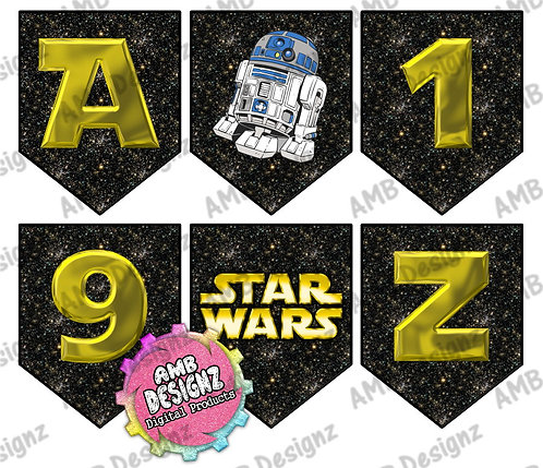 Star Wars Party Banner - Star Wars Party Supplies