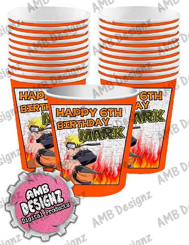 Naruto Party Cups Supplies - Naruto Party Supplies