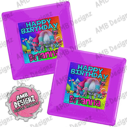 Trolls Party Plates Party Supplies