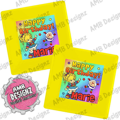 Rainbow Brite Party Plates Party Supplies