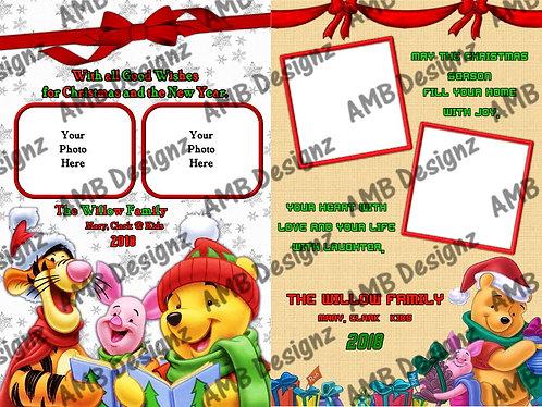 Winnie the Pooh Christmas Printable Custom Photo Christmas Card