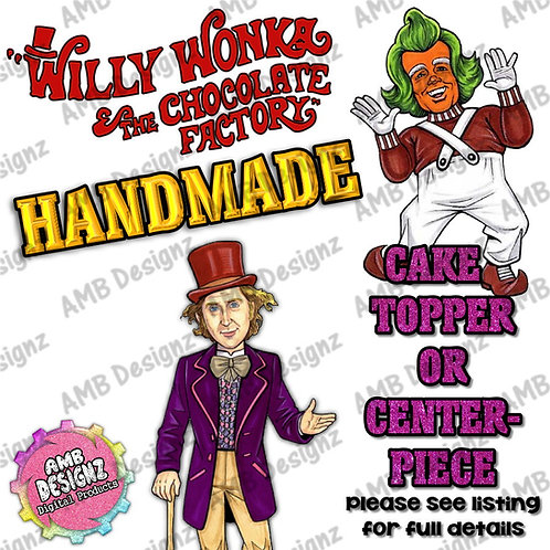 Wonka Cake Topper Centerpiece - Wonka Party Supplies