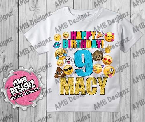 Emoji T-Shirt Birthday Image - Emoji Party Supplies