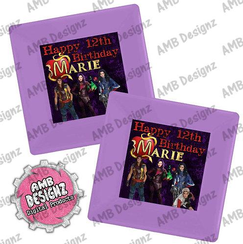 Disney Descendants Party Plates - Disney Descendants Party Supplies