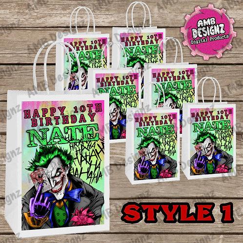 Joker Favor Bag Label Party Supplies - Joker Party Supplies