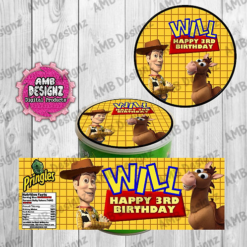 Toy Story Pringles Can Labels - Toy Story Party Supplies