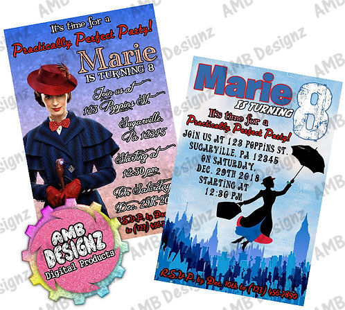 Mary Poppins invitations Party Supplies