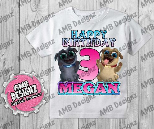 Puppy Dog Pals T-Shirt Birthday Image - Puppy Dog Pals Party Supplies