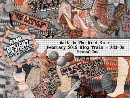Walk on the Wild Side - Pixel Scrapper February 2019 Blog Train
