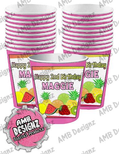 Tutti Frutti Party Cups - Tutti Frutti Party Supplies