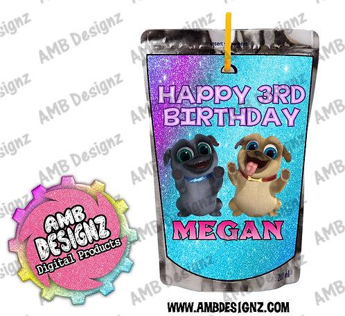 Puppy Dog Pals Capri-Sun Pouch Label - Puppy Dog Pals Party Supplies
