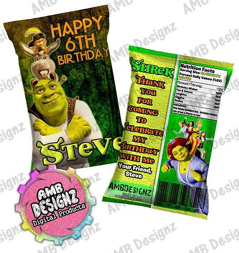 Shrek Chip Bag Party Favor Party Supplies