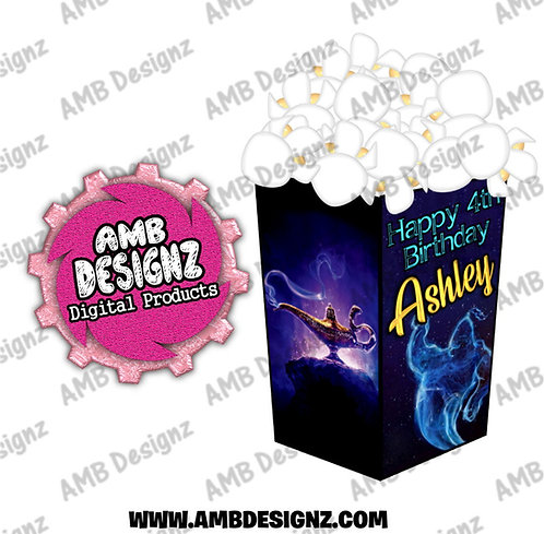 Aladdin Popcorn Box Favor - Aladdin Party Supplies
