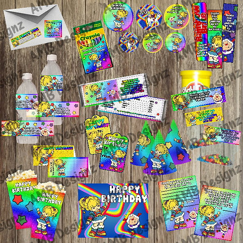 Rainbow Brite Party Supply Ultimate Pack