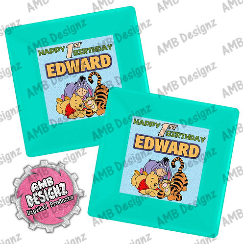 Winnie the Pooh Party Plates Party Supplies