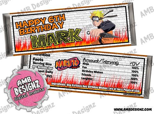 Naruto Candy Bar Wrapper - Naruto Party Supplies