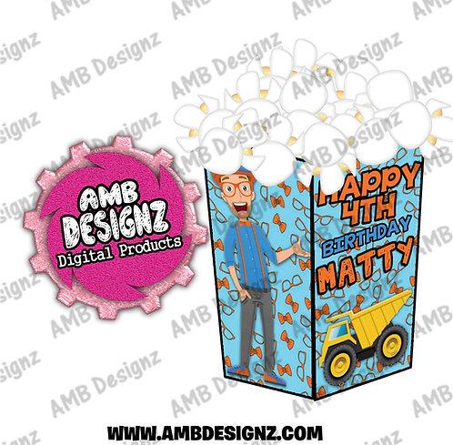 Blippi Popcorn Box Favor - Blippi Party Supplies