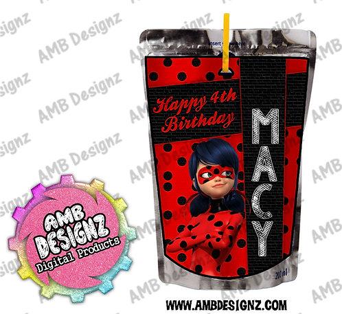 Miraculous Ladybug Capri-Sun Pouch Label - Miraculous Ladybug Party Supplies