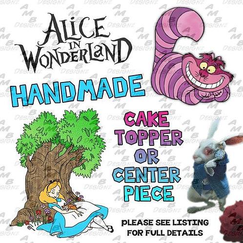 Alice in Wonderland Cake Topper Centerpiece