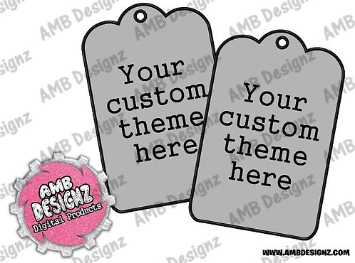 Custom Any Theme Gift Tag Party Favors - Custom Party Supplies
