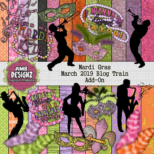 Mardi Gras Scrapbooking kit