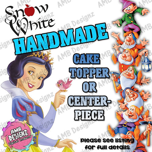 Snow White Cake Topper Centerpiece