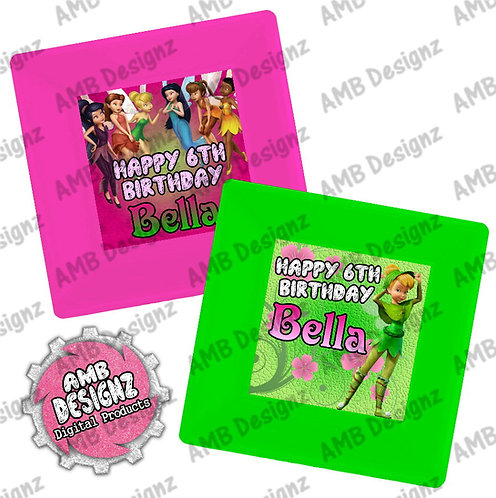 Tinkerbell Fairies Party Plates - Tinkerbell Fairies Party Supplies