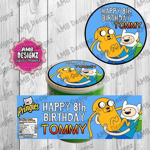 Adventure Time Pringles Can Labels - Adventure Time Party Supplies
