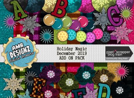 Pixel Scrapper - December 2019 Blog Train - Holiday Magic
