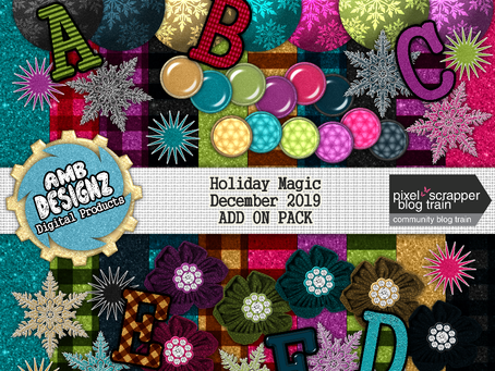 Pixel Scrapper - December 2019 Blog Train - Holiday Magic