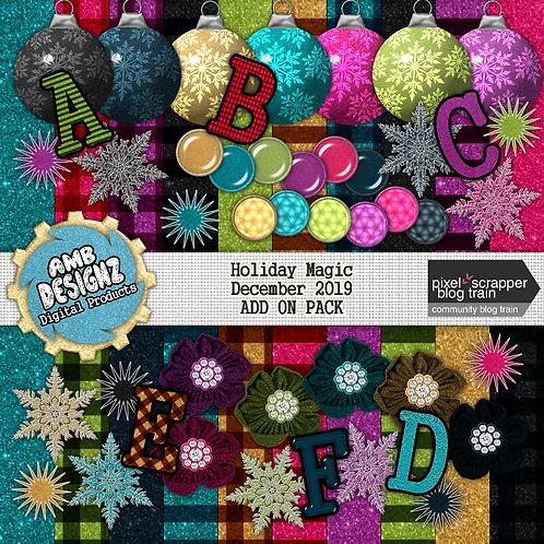 Holiday Magic Digital Scrapbooking Kit; Holiday Magic Scrapbooking Kit Add On