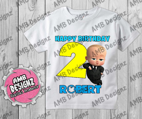 Boss Baby T-Shirt Birthday Image - Boss Baby Party Supplies