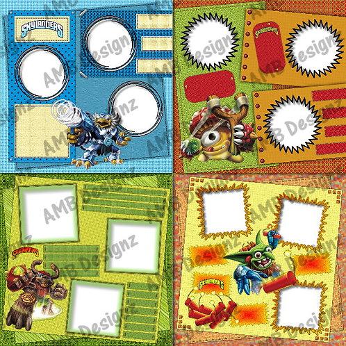 Skylanders Digital Scrapbooking Premade Album/Pages