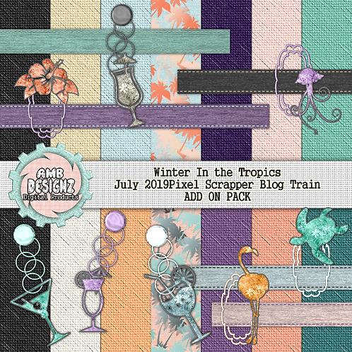 Winter in the Tropics Mini Scrapbooking Kit - Add On