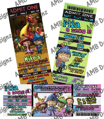 Mike the Knight party supplies Invitations